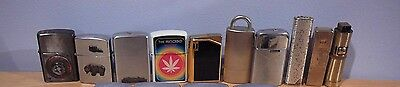 10 Lighters Lot Ronson Sarome Prince Rocky Carrib Apollo 9 Auer Dynasty Lighter