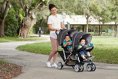 New Sealed Double City Jogger Twin Stroller W Second Seat For Kids Baby Infant