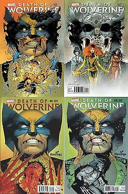 Death Of Wolverine 1 2 3 4 Rare Hastings Variant Connecting Cover Set Htf Nm