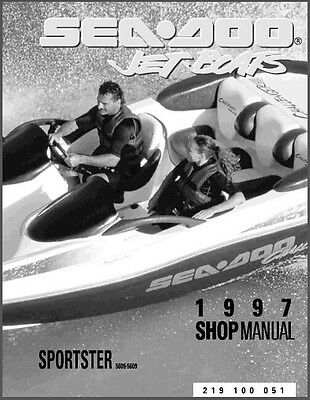 1997 Sea-Doo Sportster Jet Boat Service Repair Shop Manual CD -- Seadoo