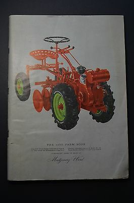 Vintage 1955 MONTGOMERY WARD FARM BOOK - catalog equipment poultry tools saddles