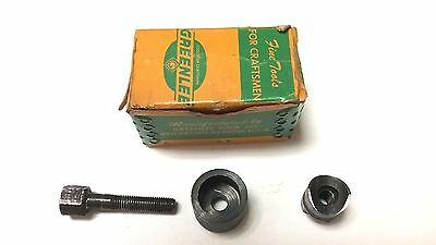 """New - Greenlee 5/8"""" Round Radio Chassis Knock Out Punch Set - Model 730 - Usa"""