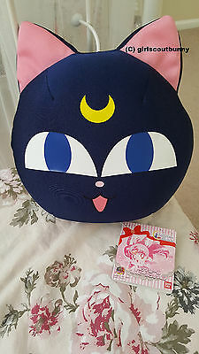 Sailor Moon 20th Anniversary Bandai Luna P Stuffed Cat Ball Cushion Plush Pillow