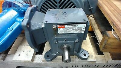 Dayton 3Cd41 Right Angle Gear Reducer 0.50 Input Hp, 40:1 Ratio