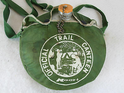 Vintage Kmart store Official Trail camping scouting hiking aluminum canteen