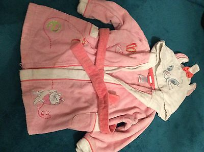 Disney Store Girls Marie Cat Towelling Dressing Gown 12-18 months 1-1 1/2 years