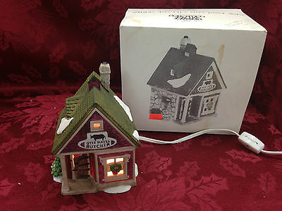 Department 56 New England Village Series Otis Hayes Butcher 59390 Christmas