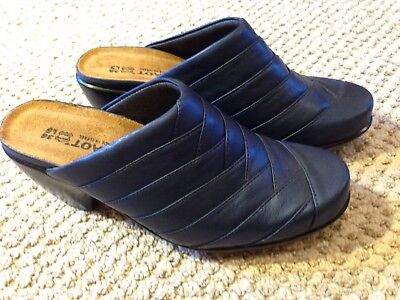 NEW NAOT US 5/ 36  BLUE Leather Suede WOMEN'S Shoes Mules Slides Clogs