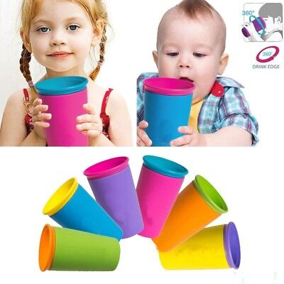 6 Colors 360° Leakproof Baby Kids Safe Spill Free Drinking Drinkware Magic Cup