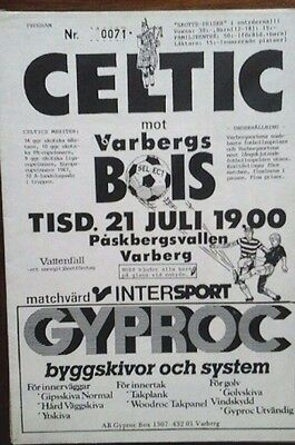 Varbergs V Celtic 1988 Friendly