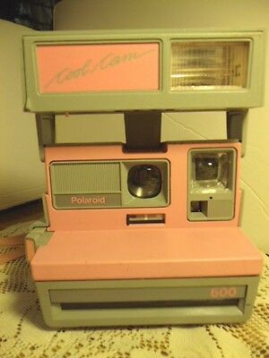 POLAROID Cool Cam 600 Camera With Strap Pink Gray