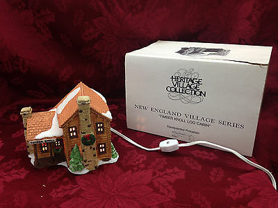 Department 56 New England Village Series Timber Knoll Log Cabin 65447 Christmas