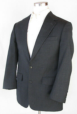 BROOKS BROTHERS Charcoal Gray Wool 2 Button Sport Coat Jacket Blazer, Sz 39R