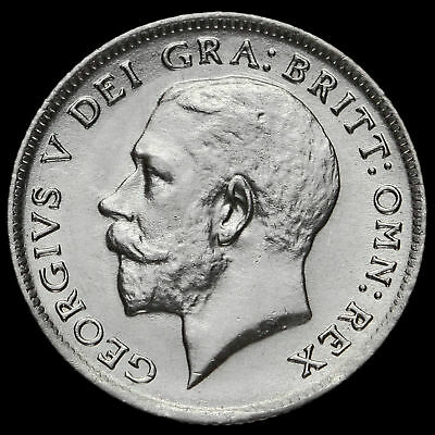 1921 George V Silver Sixpence, G/EF