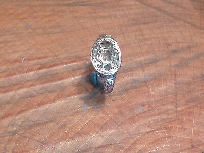 Fantastic Late Anglo Saxon/Medieval Seal Ring-British Detecting Find