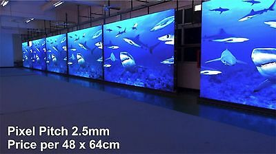 Full Colour LED Video Display - Pixel Pitch 2.5mm - Indoor - 48x64cm