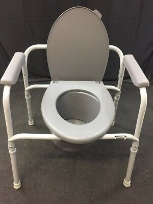 Invacare Portable Bedside Commode Patient Hospital Room Toilet Safety Support