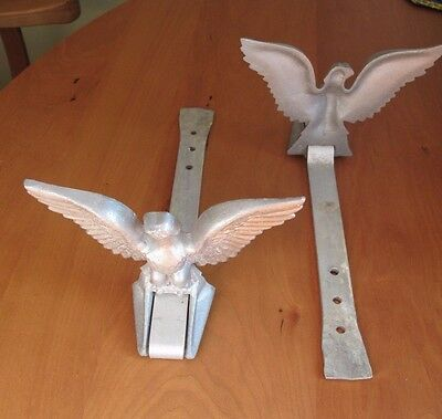 Pair of architectural eagle roof ice, snow guards dogs cast aluminum Made in USA