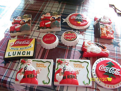 11 Assorted Coca Cola Refrigerator magnets used