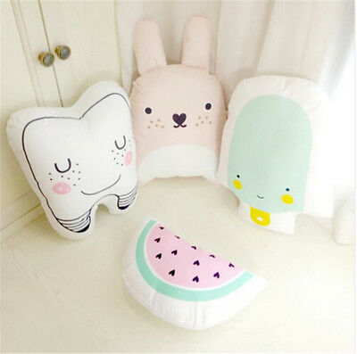1x Baby Catoon Pillow Kids Cute Cushion Cotton Baby Room Decor Child Bed Doll FT