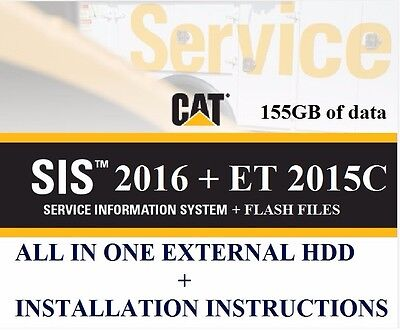 CAT SIS 2016.11 FULL + CAT ET 2015A + Flash Files + ET Factory password LATEST