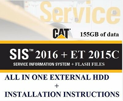 CAT SIS 2016 FULL + CAT ET 2015A + Flash Files + ET Factory password LATEST