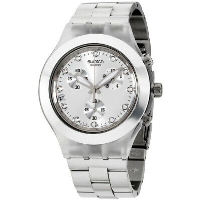 Swatch Full-Blood Silver Dial Stainless Steel Unisex Watch SVCK4038G