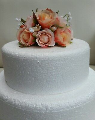 Wedding Flowers Cake Topper In Blush Pink And Peach.