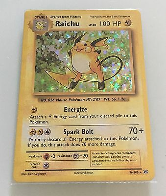 Pokemon Card Evolutions Raichu 36/108 Rare Holo new from packet