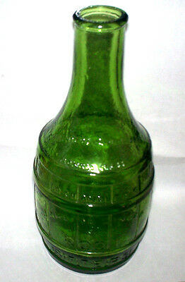 "Vintage 70's Wheaton Dr Chandlers Jamaica Root Bitters Green Glass 7.5"" Bottle"