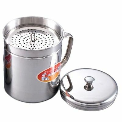 Cooking Oil Container Storage Grease Strainer Bacon Frying Kitchen Dispenser Lid