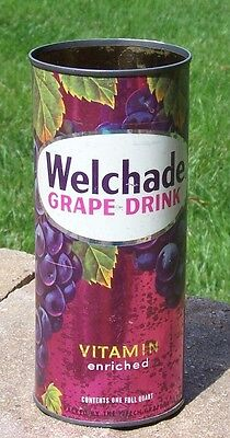 *Graphic* 29 oz. Welchade Grape DrinkSoda Can Flat Top--Pre-Zip Code