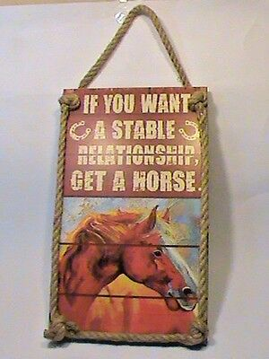 Horse wall hanging picture rope If you want a stable relationship get a horse