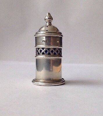 Antique Silver 1929 Pepper Pot / Shaker Original Glass Liner By Deakin & Francis