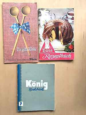Lot of 3 German / Austrian Cookbooks in German language 1950's