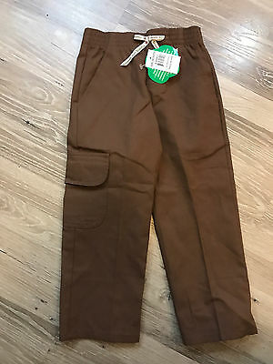 Nwt New Girl Scouts Of America Brownie Pants Size Xs Brown New ~ Free Shipping