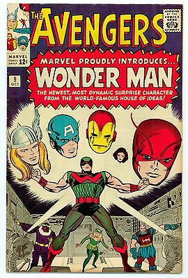 Avengers #9 (1St Appearance Of Wonder Man) - Fn Condition - Guardians Movie