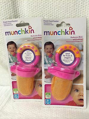 Lot Of 2 Munchkin Fresh Food Feeder -Reduces Risk Of Choking-- Choose Color