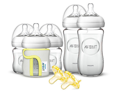 Philips Avent Natural Glass Newborn Baby Bottle Starter Set, SCD291/01
