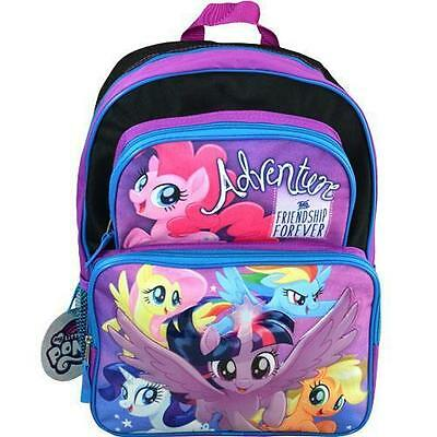 "NWT NEW Hasbro My Little Pony Adventure Friendship Forever 16"" Cargo Backpack"