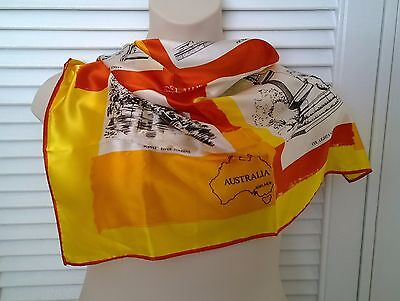 Vintage*Retro ADELAIDE SOUTH AUSTRALIA SOUVENIR SCARF SQUARE* *Free Post*