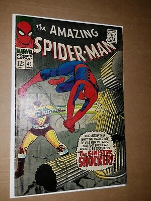 The Amazing Spider-Man #46 (Mar 1967, Marvel) fine-  1st appearance of shocker