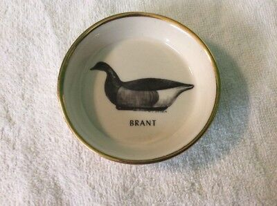 Ducks Unlimited By Milton C. Weiler , Hand Colored Small Dish , Brant,