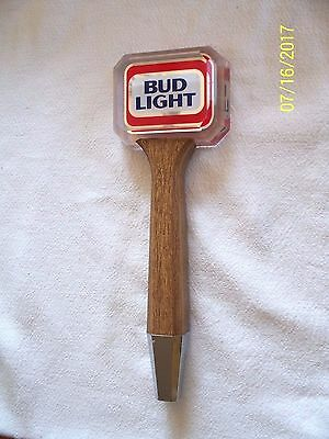 Vintage Bud Light Beer Tap Handle Wood And Lucite 10 1/2 Inches