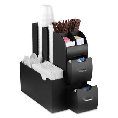 Mind Reader CAD01BLK Coffee Condiment and Accessories Caddy Organizer, Black