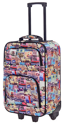 New Travel Carry On Suitcase On Wheels With Extendable Handle (Vintage)