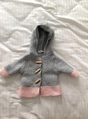 Baby Girl Country Road Hooded Knit Cardigan Size 000
