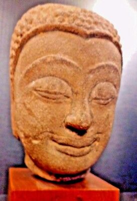 Ancient Chinese Buddha Head - Northern Zhou to Sui Dynasty Circa 570 - 590 A.D