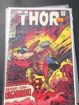 Thor #157 Kirby Colletta Loki Sif Mangog Odin Warriors Three 1st Guntharr Marvel