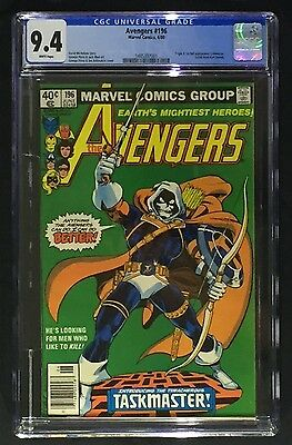 Avengers #196 CGC 9.4 - Origin and 1st App Taskmaster; White pages!
